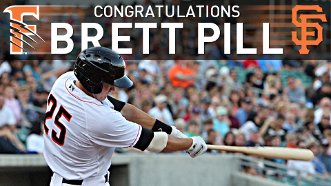 The Grizzlies wish to congratulate Brett Pill on his promotion to the Major Leagues.