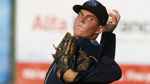 Trevor Bauer leads the Southern League with 41 1/3 innings pitched this season.