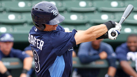 Richie Shaffer hit .308 in 33 games in his first Minor League season.